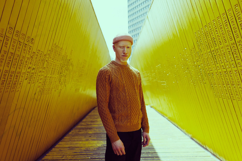 """Richard Terborg 2018 www.richardterborg.com """"I've been on a Wes Anderson """"exploration/funk/inspired by/phase/binge??? So I asked my friend to bring anything yellow he has and a puffy hat. It was around 35 degrees celcius outside and he had to put on the only yellow woolly shirt he had and a warm cap. Love places with a lot of color and lines because of """"Wes"""" and this place just clicked perfectly."""""""