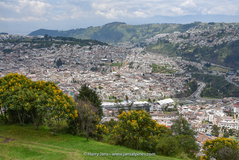 part of Quito seen from El Panecillo