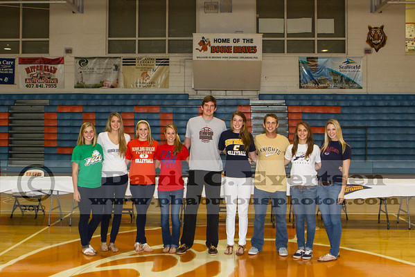 Boone High School Fall Signing Day - 2012