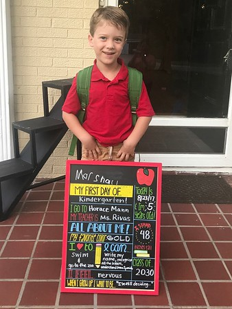 Marshall's first day of kindergarten