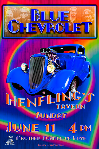 Blue Chevrolet Band Posters