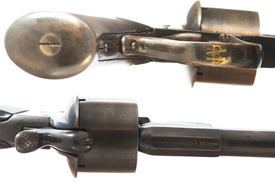Javelle patent pinfire revolver with gold inlays