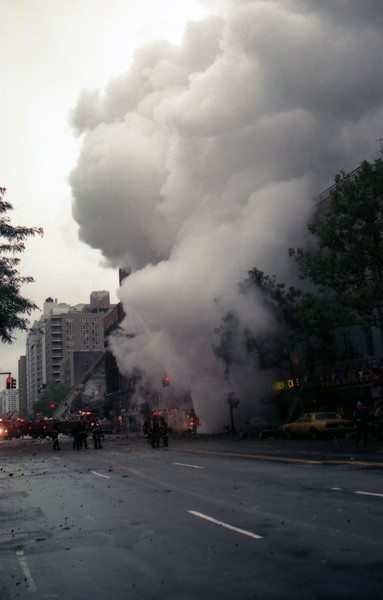 Steam Explosion 81 Irving Place at E 20th Street on  8-19-89