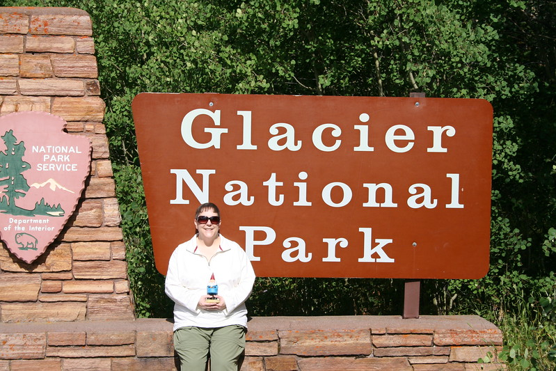 20110826 - 047 - GNP - Lisa And Gnomie At Glacier National Park.JPG