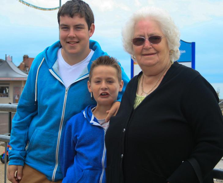 Nana Jack & Samual by the sea front 2013