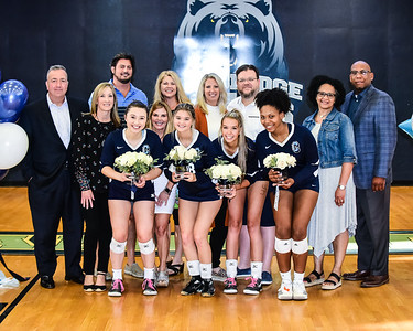 19-20 Volleyball Senior Night Ceremony with Action