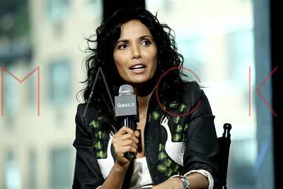 New York, NY - October 05:  The BUILD Series Presents Padma Lakshmi, discussing her new cookbooks and tableware lines at AOL HQ.