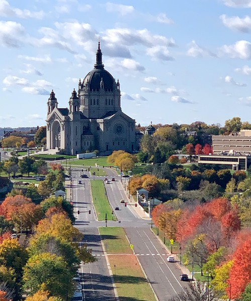 DA093,DT,St. Paul's Cathedral from  the MN Capitol Building.jpg