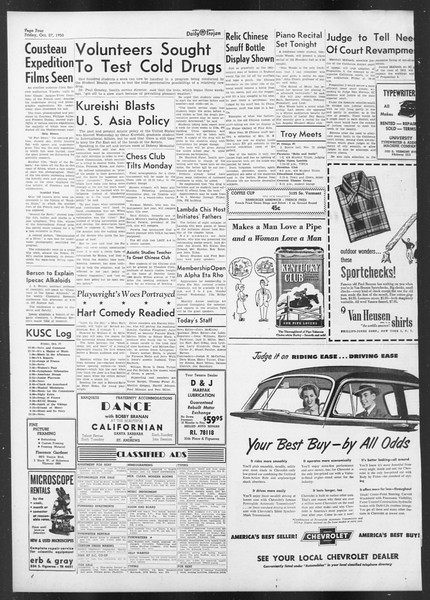 Daily Trojan, Vol. 42, No. 30, October 27, 1950