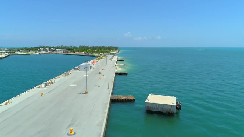 Aerial Key West ship port 4k