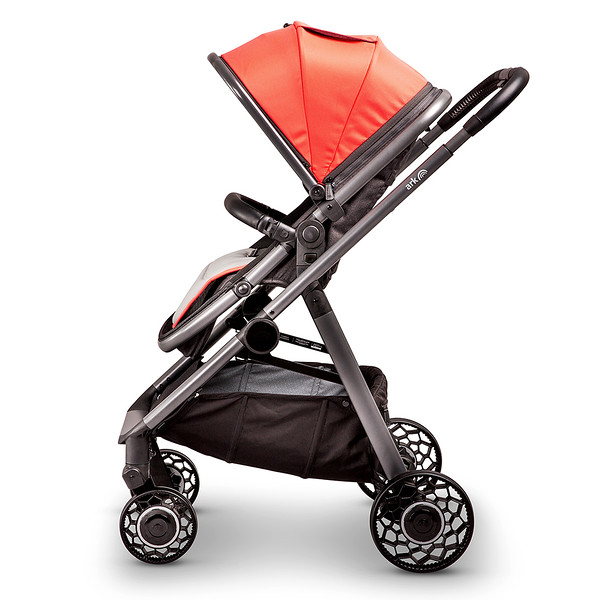 3 Ark Travel System Pushchair Mode World Facing Coral.jpg