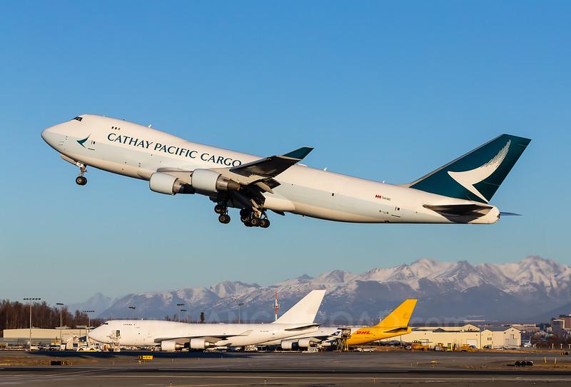 Cathay Pacific Cargo 747-400F  - B-LIB - ANC