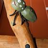 carved timber spider