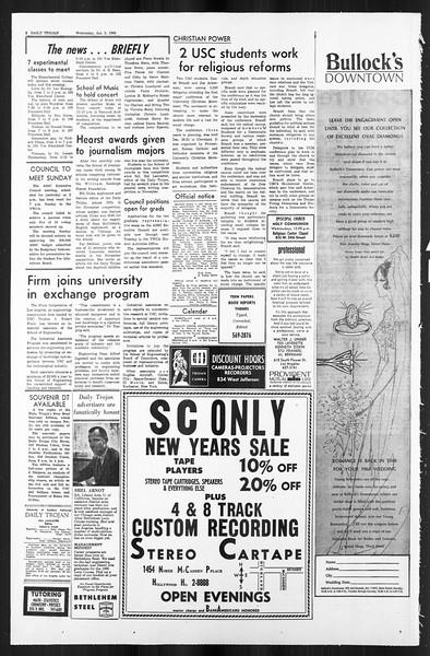 Daily Trojan, Vol. 59, No. 58, January 03, 1968
