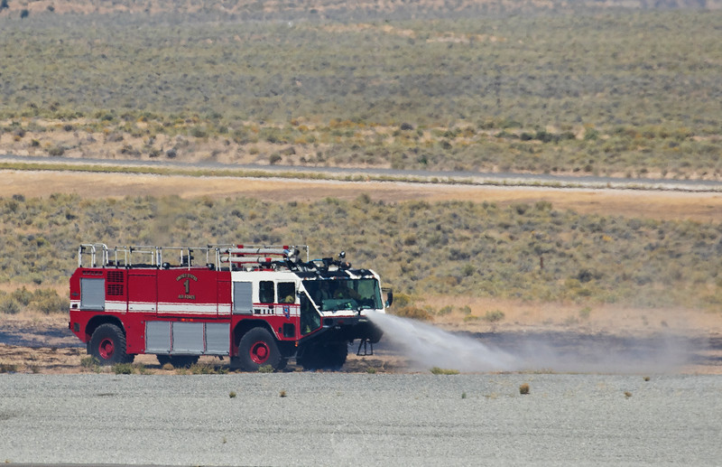 Fire Truck Putting out the Pyros