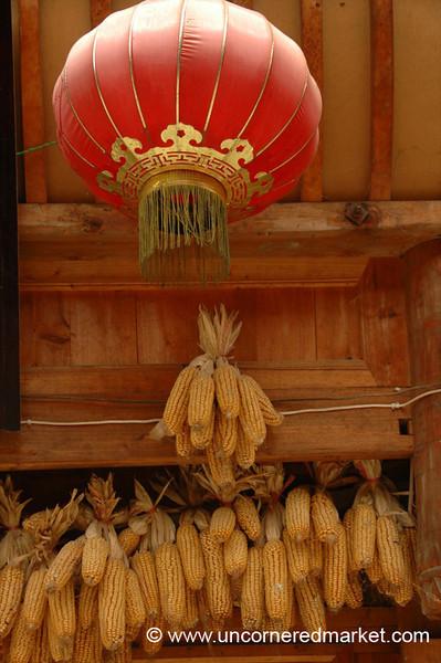 Red Lantern and Corn - Guizhou Province, China