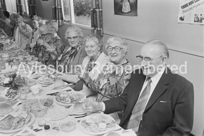 Aylesbury Darby & Joan Club Jubilee party, June 1977