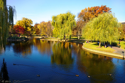 Boston, Boston Common & Public Garden in the Fall.