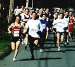 2002 Hatley Castle 8K - Osaduik leads the field away from the gun