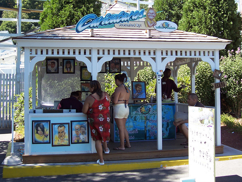 The new Caricatures gazebo.