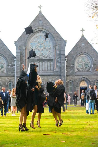 01/11/2018. Waterford Institute of Technology (WIT) Conferring Ceremonies 2018. Pictured are Leanne Ryan Clonmel, Stephanie Sinmott Adamstown, Cassie Mcgrath Wexford. Picture: Patrick Browne