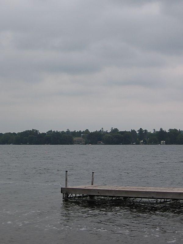 Rainy day at Chemong Lake