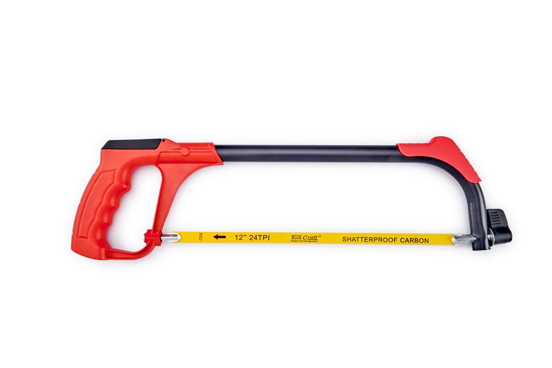 Tork Craft Aluminium Alloy Hacksaw Frame, 3 Blade, TCHS002, 300mm