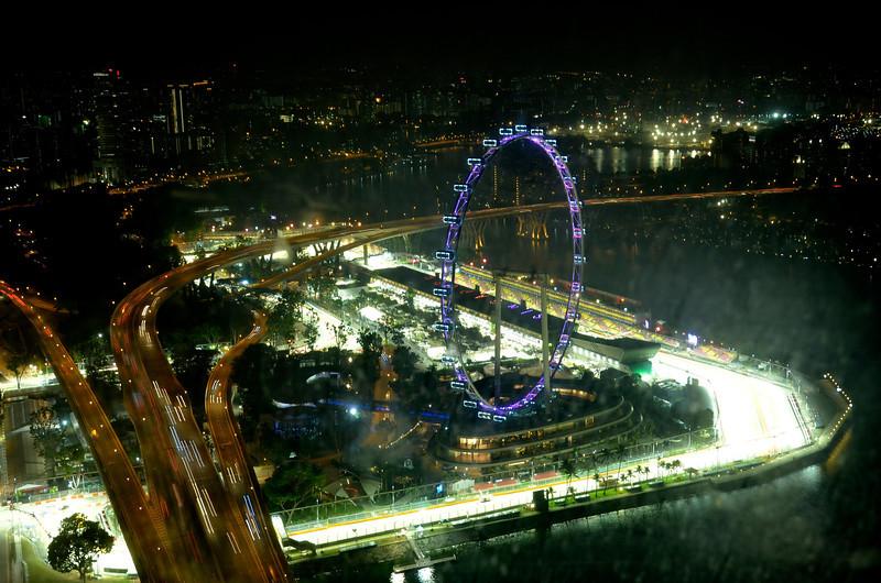 burning F1 track, Singapore