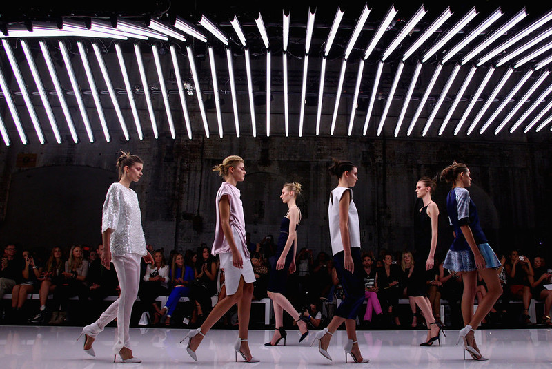 . Models showcase designs on the runway at the Bec and Bridge show during Mercedes-Benz Fashion Week Australia Spring/Summer 2013/14 at Carriageworks on April 8, 2013 in Sydney, Australia.  (Photo by Marianna Massey/Getty Images)