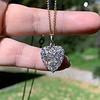 1.63ctw Edwardian Diamond Pave Heart Pendant 14