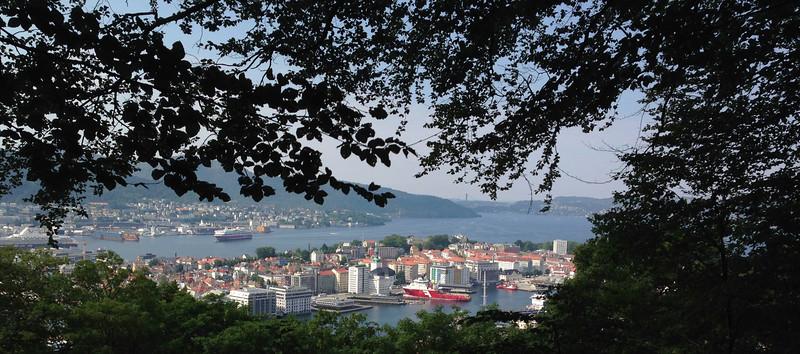 Bergen, from a hilltop park on Mt. Floyen