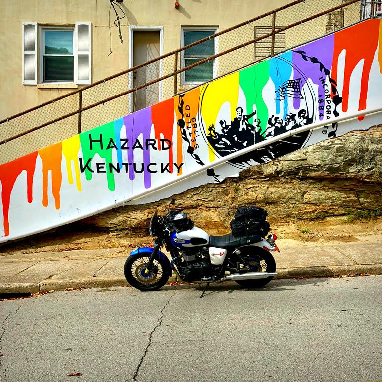 triumph bonneville motorcycle touring in hazard kentucky