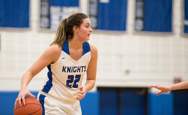 01/28/20 Wesley Bunnell | StaffrrSouthington girls basketball defeated Hall in a home contest on Tuesday night. Kelley Marshall (22).