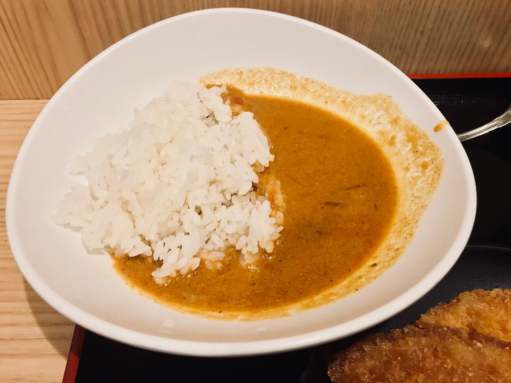 Curry rice that doesn't look like much, but I'd go back for this.