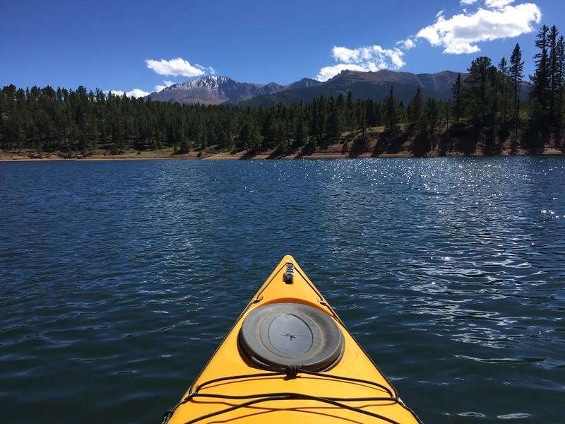 Kayaking Rampart Reservoir