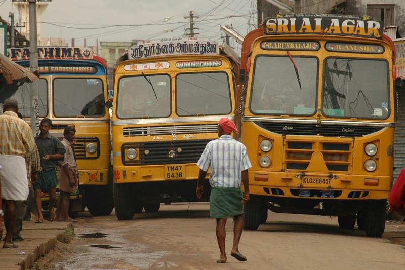 Indian Buses - Kerala, India