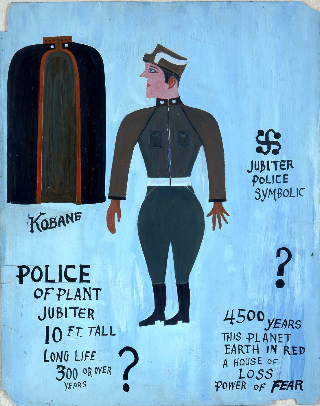 "Peter ""Charlie"" Attie Besharo, ""Police of Planet Jupiter"" (ca 1950s)"