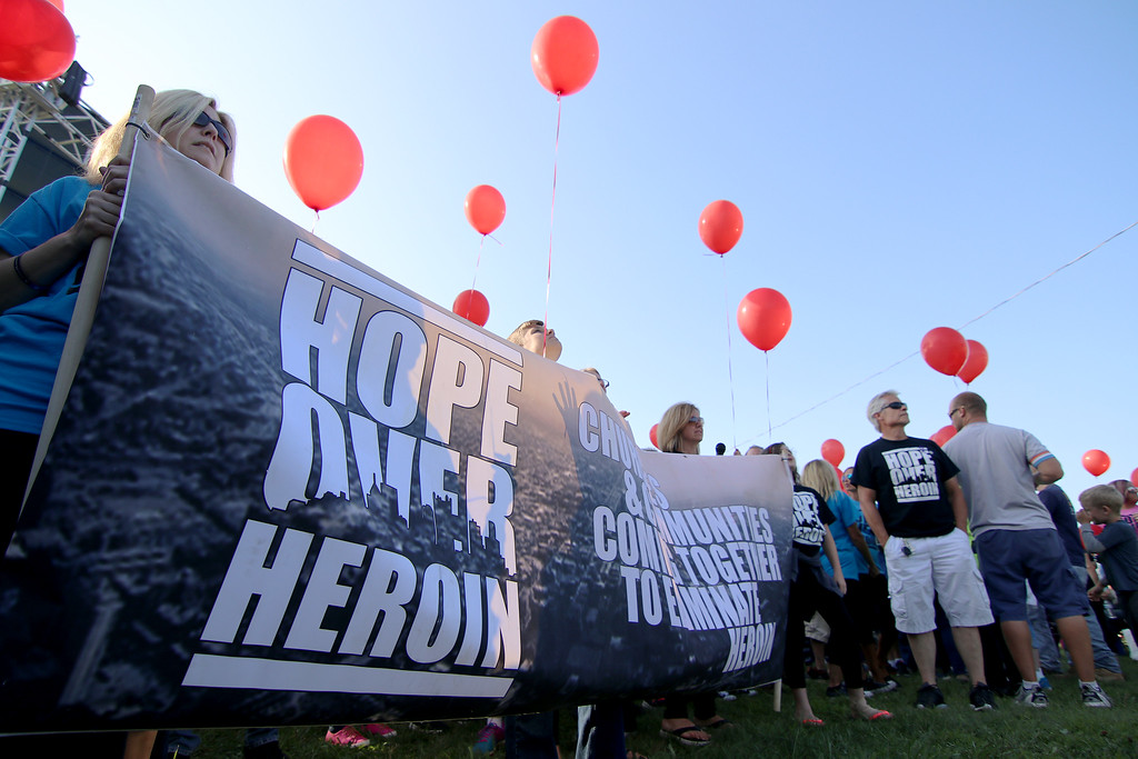 . Jonathan Tressler - The News-Herald. A scene Aug. 25 during opening day of the two-day Hope Over Heroin Lake County event at Lake County Fairgrounds in Painesville Township shortly before the opening prayer march/memorial..