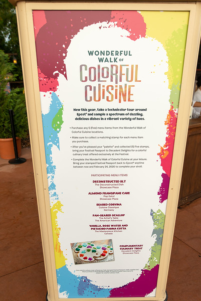 Wonderful Walk of Colorful Cuisine - Epcot Walt Disney World