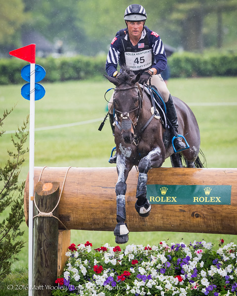 Boyd Martin and Shamwari 4 in the Cross Country portion of the Rolex 3-Day Event at the Ky. Horse Park 4.30.16.