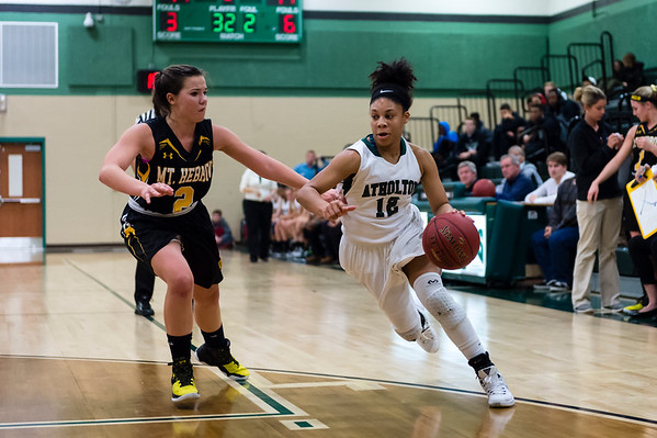 Atholton Girls Varsity Basketball vs Mt. Hebron - 12/18/15