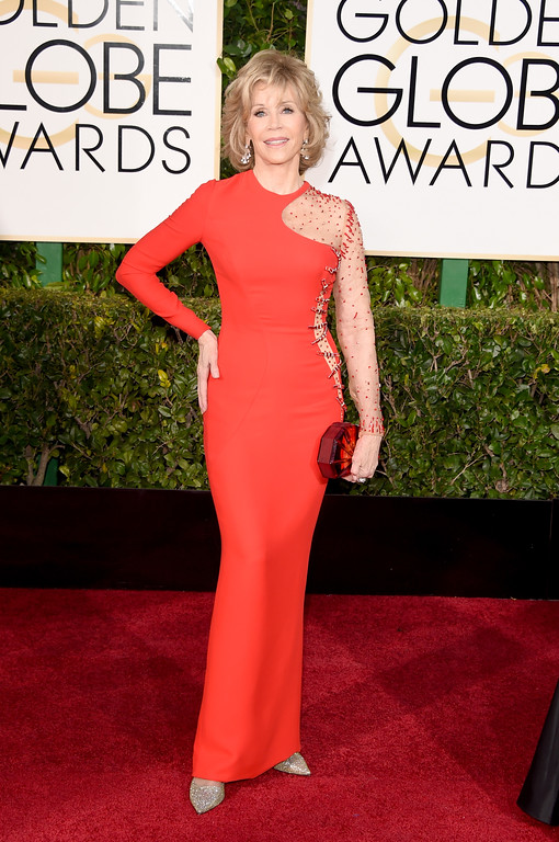 . BEVERLY HILLS, CA - JANUARY 11:  Actress Jane Fonda attends the 72nd Annual Golden Globe Awards at The Beverly Hilton Hotel on January 11, 2015 in Beverly Hills, California.  (Photo by Jason Merritt/Getty Images)
