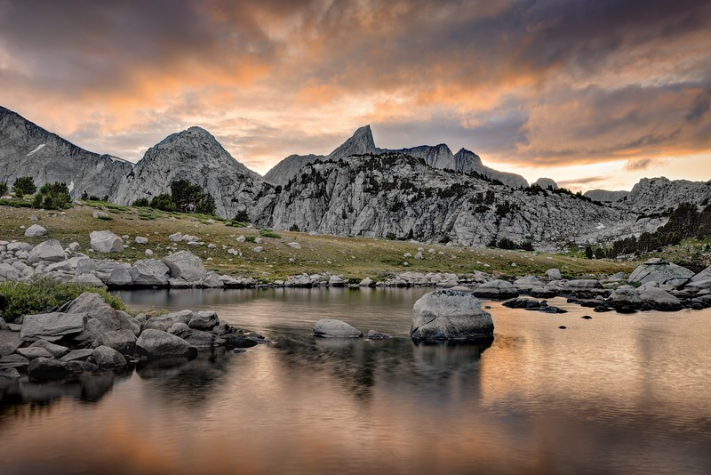 (2014 August 17-23)  Wind River Range.  Deep Lake , Cirque of the Towers, Texas Pass, and Pyramid Lake.  Bridger-Teton National Forest, Wyoming.