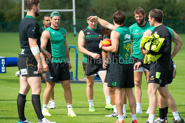 Pre-season training, Franklin's Gardens, 14 August 2014