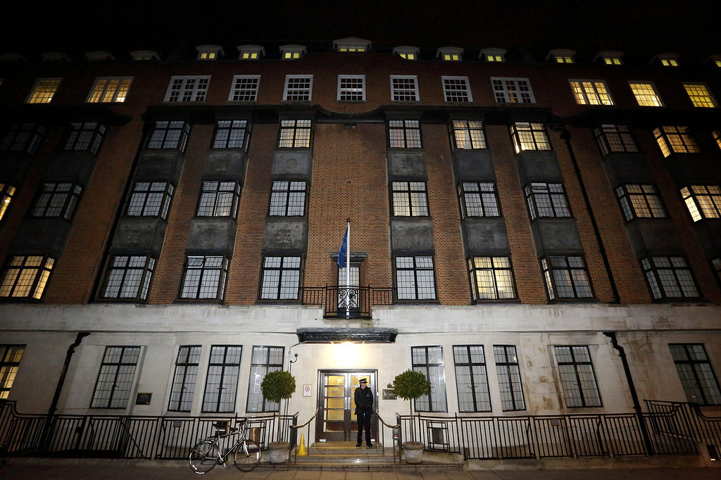 . King Edward the VII hospital in London on December 3, 2012, where Catherine, the Duchess of Cambridge, is resting after suffering severe morning sickness. Prince William\'s wife Catherine is pregnant with their first child, St James\'s Palace said, in an eagerly awaited announcement about a baby destined to be Britain\'s future king or queen.  JUSTIN TALLIS/AFP/Getty Images