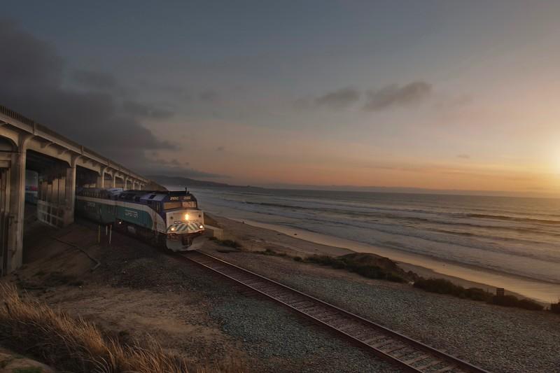 Train in Del Mar at Bridge