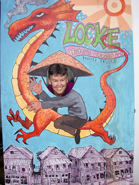 In old Locke, Leslie plays the dragon lady.  (photo courtesy John Gerlach)