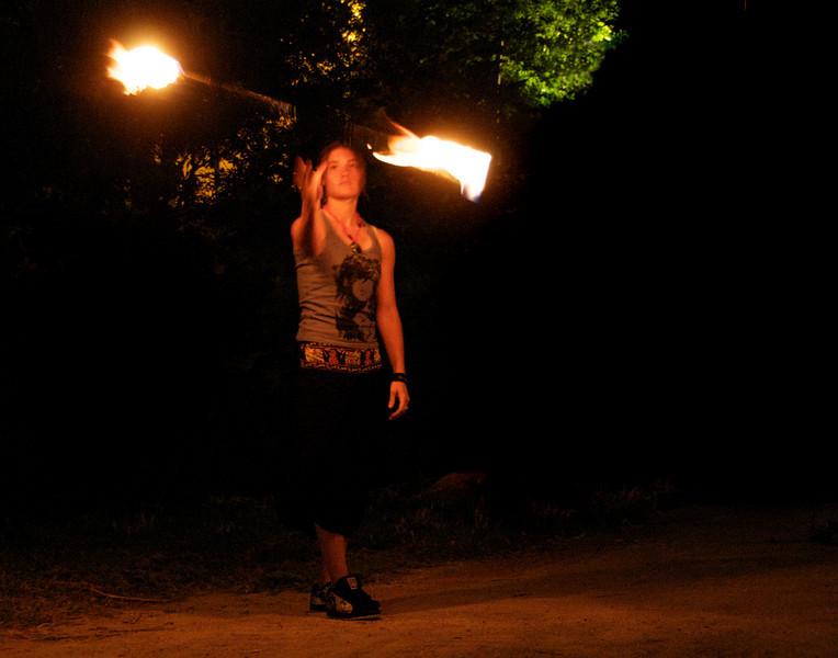 fire-girltossed pole