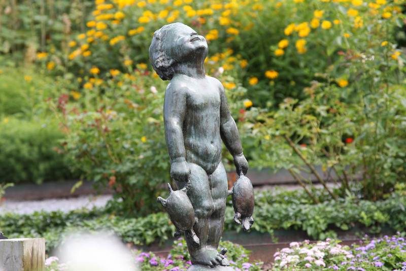 fountain statue at Shelburne museum