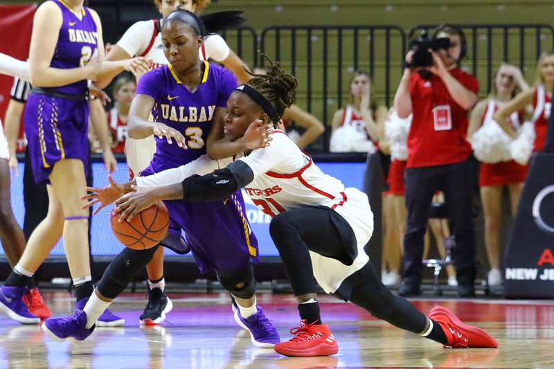 Rutgers takes on the University of Albany in an NCAA Division I basketball game held at the Rutgers Athletics Center in Piscataway on Sunday November 18, 2018. (MARK R. SULLIVAN/THE OCEAN STAR)